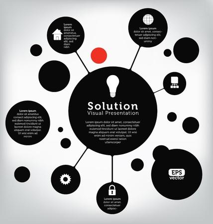 Plantilla para la presentación visual en la tecnología de la información