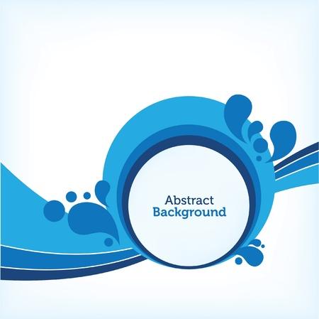 � gua: Azul Retro Drops Fundo Ilustra��o