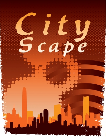 Urban City Scape Stock Vector - 14559501