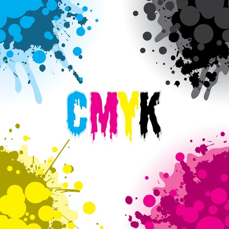 Colorful CMYK Design Elements Illustration