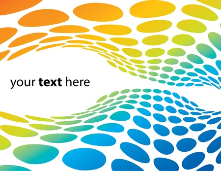 Colorful abstract waves with room to add your text