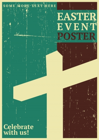 green cross: Easter Event Poster