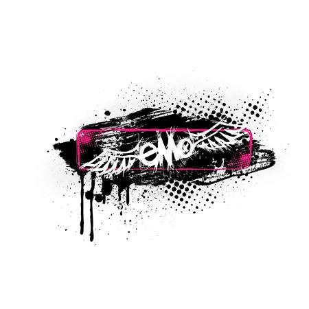 Grunge Emo Banner Vector
