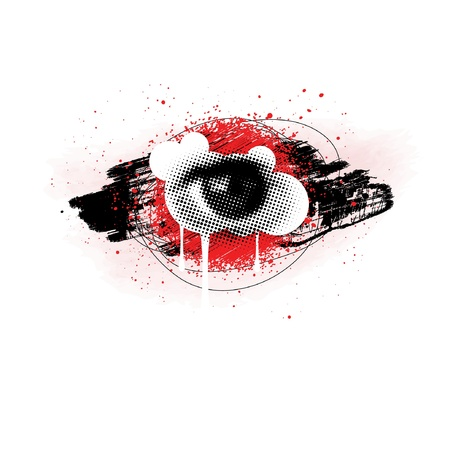 Grunge Eye Design Vector