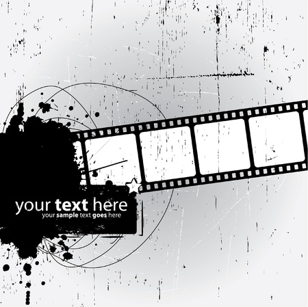 Grunge Design with film strip Vector