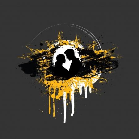 heralds: Grunge Couple In Love Illustration