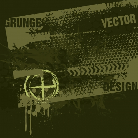 Military Style Grunge Design Vector
