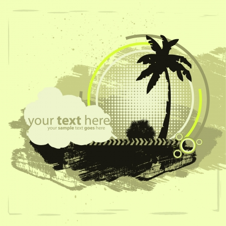 Grunge Tropical Design Vector