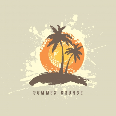 Summer Grunge Design Vector