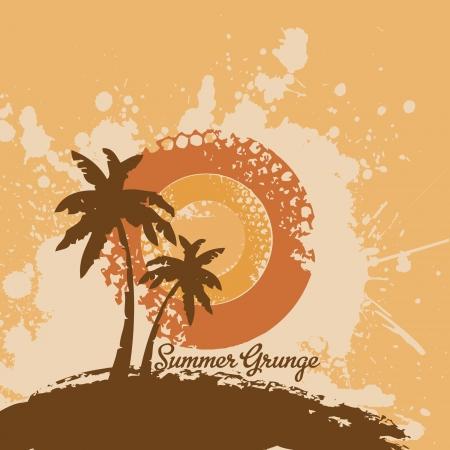Summer Grunge Design Vector