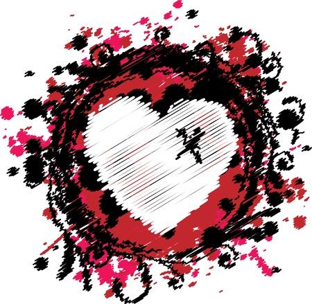 Grungy Emo Heart Design