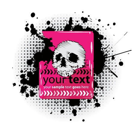 grungy header: Grungy Emo Skull Design