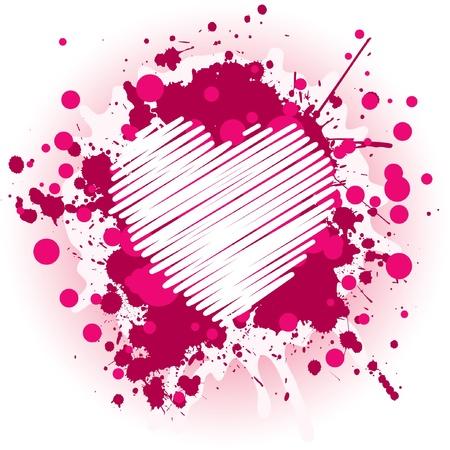 Abstract Valentines Heart Illustration
