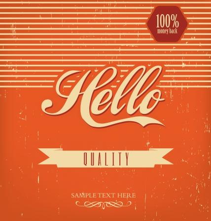 Vintage Design Template - Orange Stock Vector - 14557008