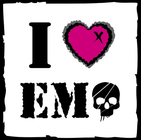 Emo love Illustration