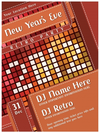 New Years Eve Party - Retro Poster Vector