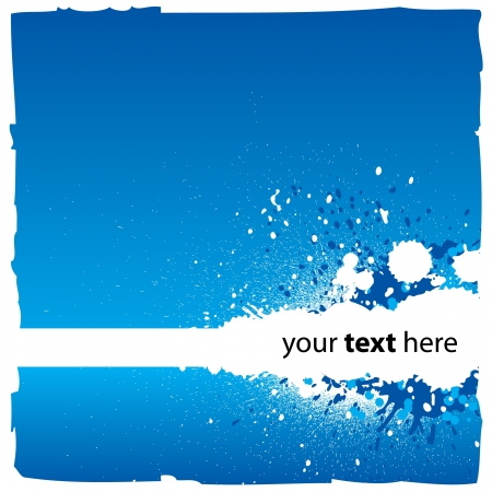 Abstract Blue Background With Splatters