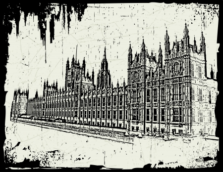 houses of parliament london: World famous landmark - British Parliament London England Illustration