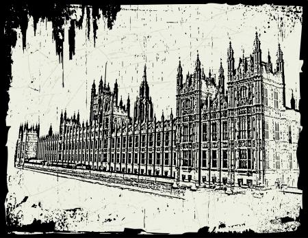 parliament: World famous landmark - British Parliament London England Illustration