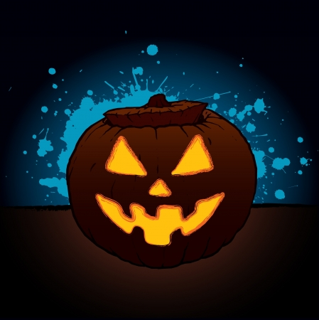 Pumpkin Lantern for Halloween Stock Vector - 14556509