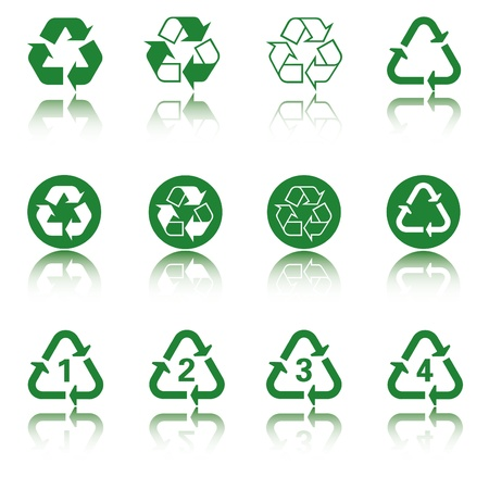 Recycle icon set Stock Vector - 14556206