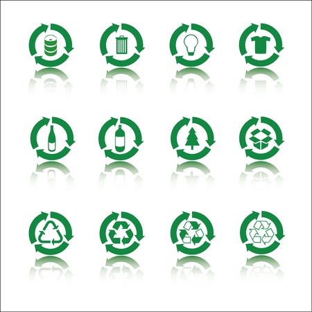 Recycle icon set Stock Vector - 14556205
