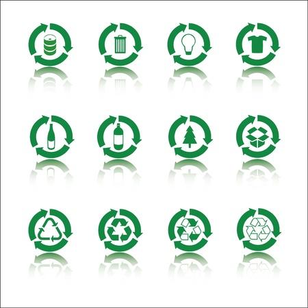 Recycle icon set Stock Vector - 14556205
