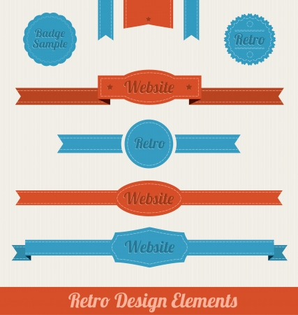 sale banner: Retro Design Elements