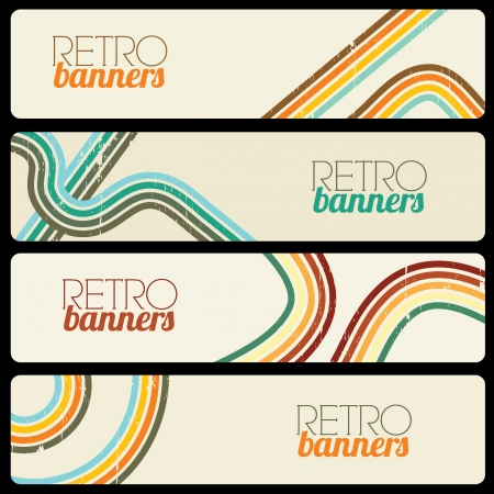 Retro Banners Vector