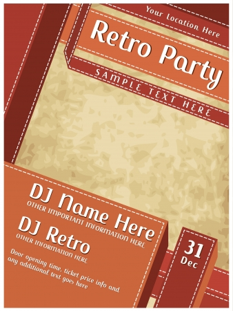 club flyer: Retro Party Poster