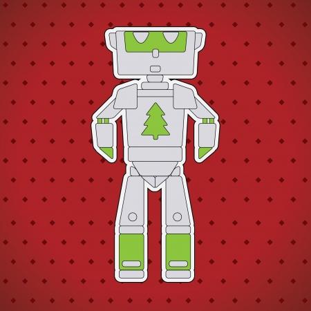 artificial leg: Robot Character Illustration