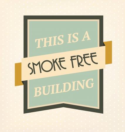 no smoking: Vintage No Smoking Sign Illustration