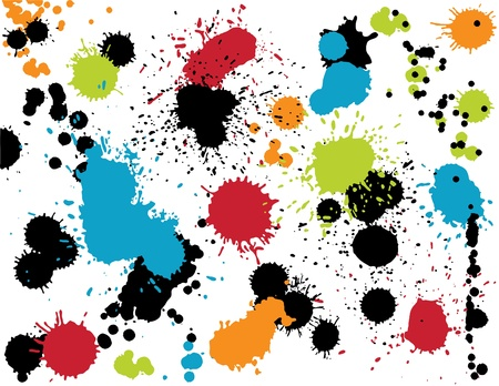 paint drip: Colorful Splatters