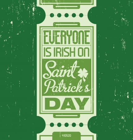 four leafed: Typographic Saint Patrick s Day Design