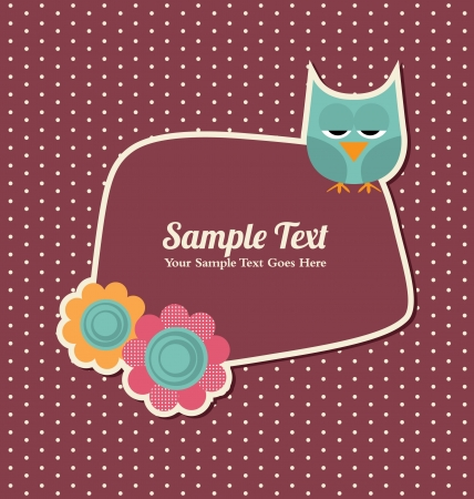 Cute Retro Template Vector