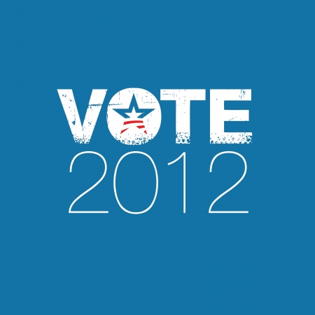 Vote 2012 Stock Vector - 14554354
