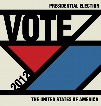 Vote - Retro Presidential Election Design Vector