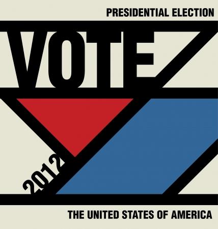 suffrage: Vote - Retro Presidential Election Design Illustration