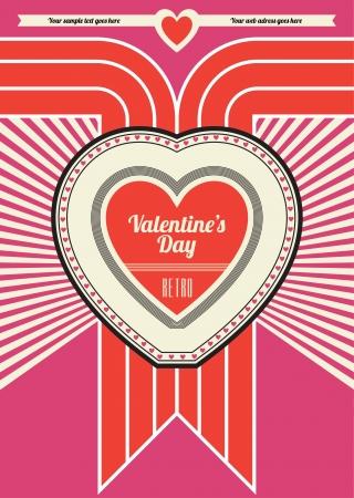 Valentines Day Retro Pink Design Stock Vector - 14554358