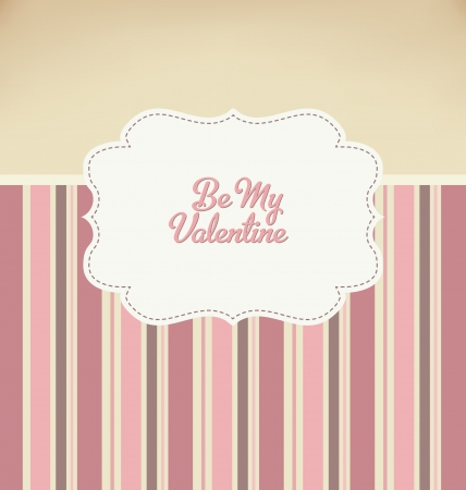 pink wall paper: Be My Valentine - Retro Design