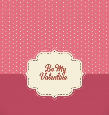 polka dot wallpaper: Be My Valentine - Vintage Design