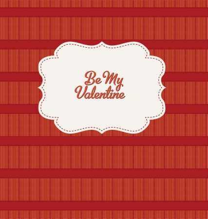 Be My Valentine - Red Vintage Design Stock Vector - 14554359