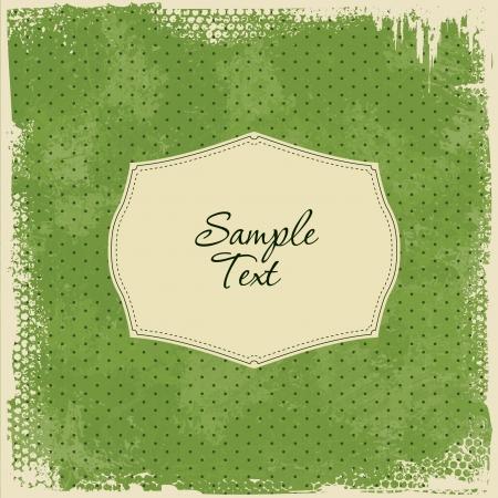 ripped paper: Scrap Template Card - worn grunge design Illustration
