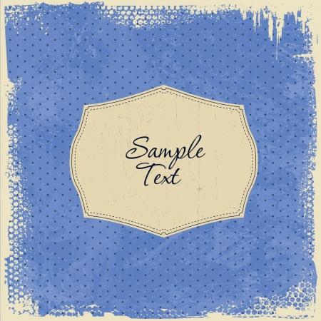 Scrap Template Card - worn grunge design Vector