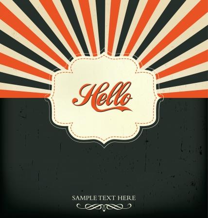Vintage Design Template - Hello Ilustracja