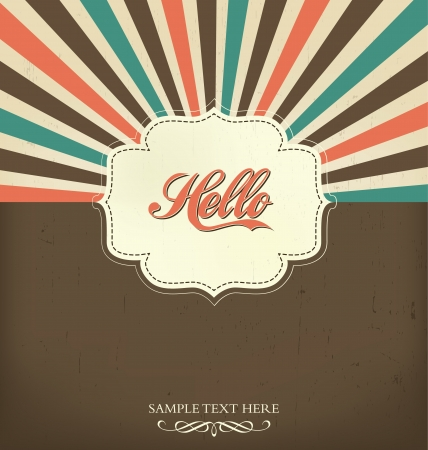 Vintage Design Template - Hello Vector