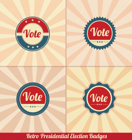 Retro Presidential Election Vector