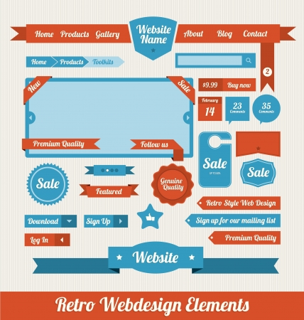 website header: Web Design Elements