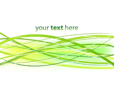 Abstract Green Lines Background Stock Vector - 14576517