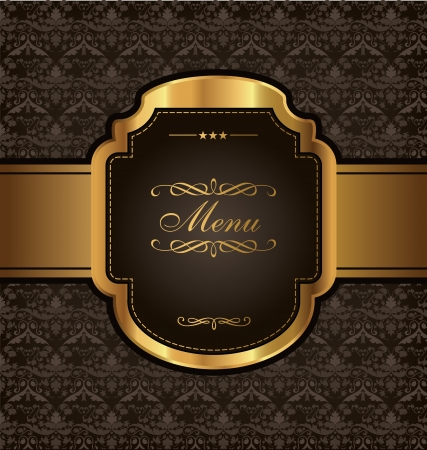 wine label design: Golden Vintage Menu Design